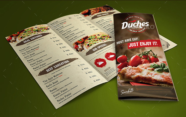 Delicious Restaurant Menu Card Template