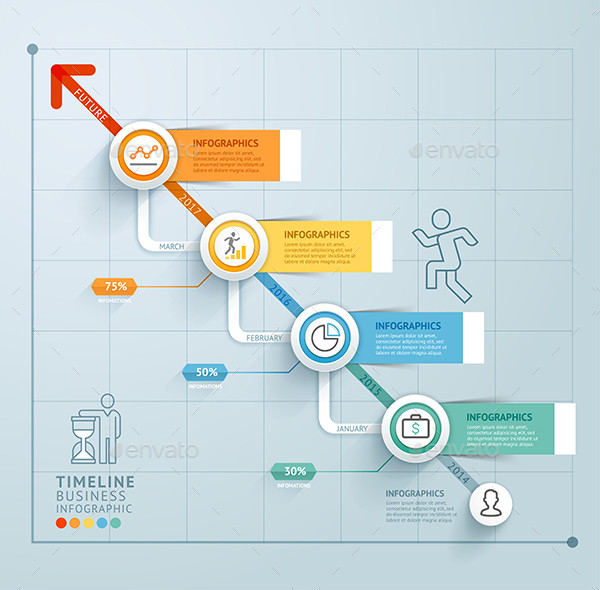 Designed Business Timeline Infographics Template