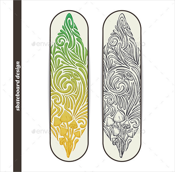 Design Skateboard with Pattern