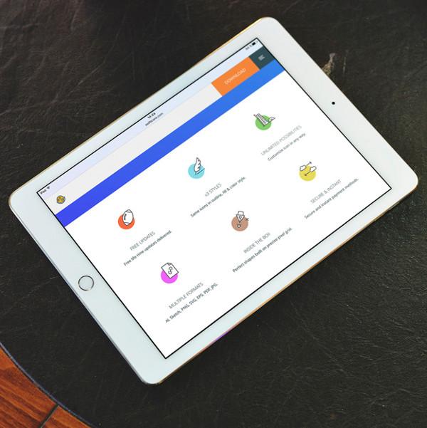 Free Tablet Screen Mock-Up Design