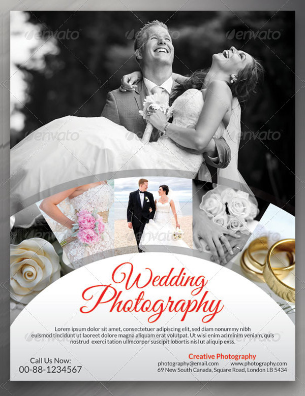 Designed Wedding Photography Flyer Template