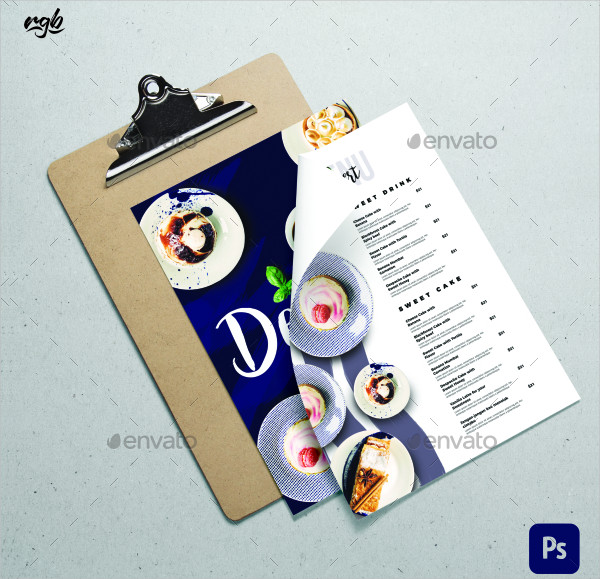 Dessert Cafe Menu Template