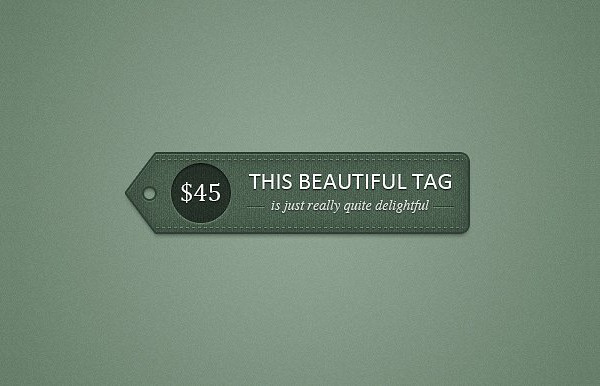 Detailed Price Tag Template