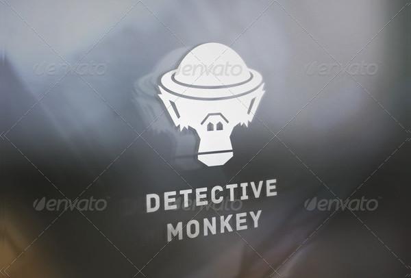 Detective Monkey Logo Template