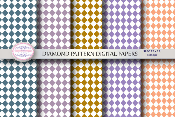 Diamond Patterns Digital Papers