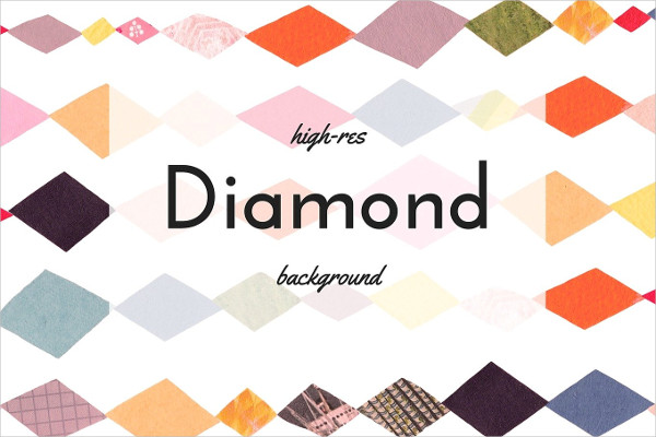 Bold Colored Diamond Collage Pattern