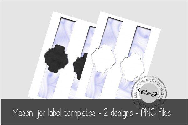 Digital Mason Jar Label Templates