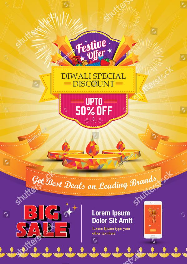 Diwali Festival Sale Poster Template