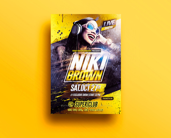 DJ Night Club Party Flyer Template