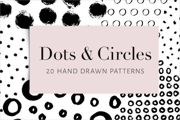 20 Hand Drawn Patterns of Dots and Circles