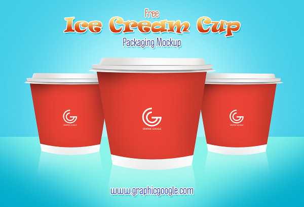 Download Free Ice Cream Cup Packaging Mockup