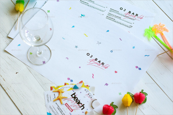 Drink Menu and Party Flyer Template