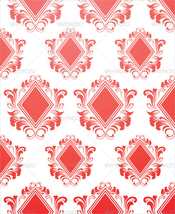 Easy to Use Red Diamond Pattern