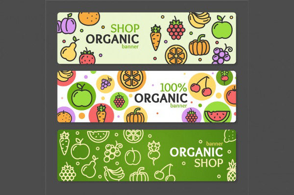 Eco Shop Banner Horizontal Set