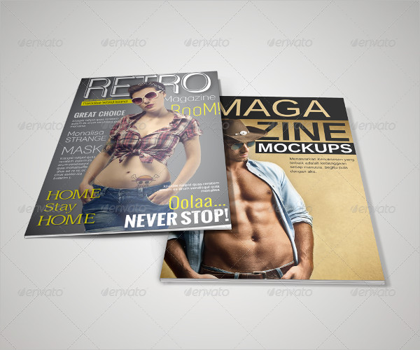 Editable Magazine & Catalogue Mockups