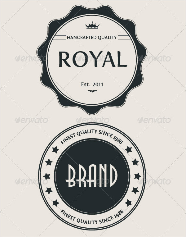Editable Vintage Logo Badge Set