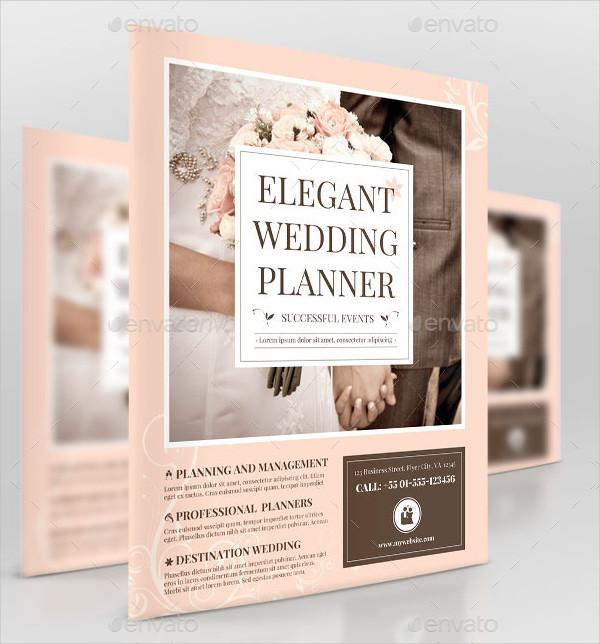 Elegant Wedding Planner Business Flyer