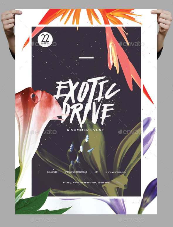 Exotic Summer Flyer or Poster Template