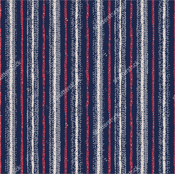 Abstract Striped Textured Seamless Pattern