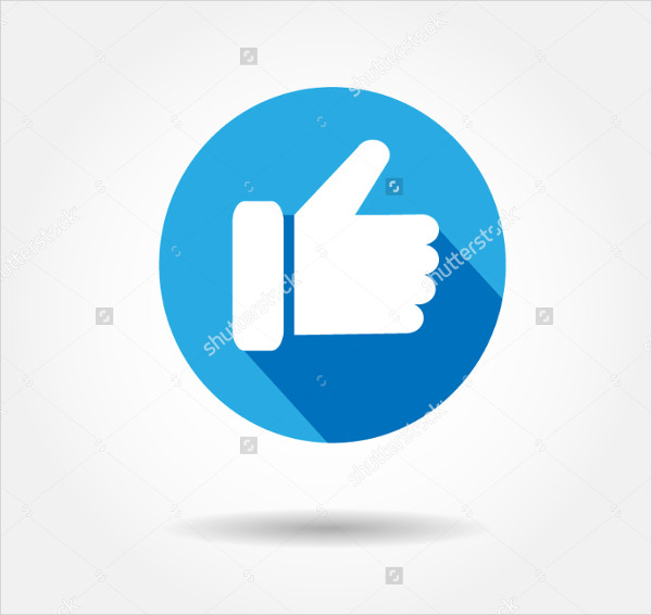 Facebook Blue Button Like Icon