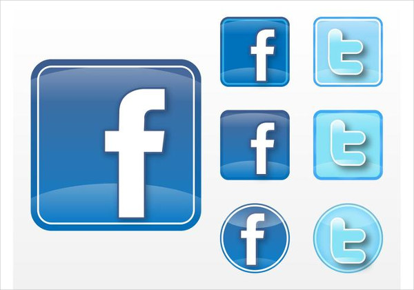 Facebook Twitter Vector Icons Free