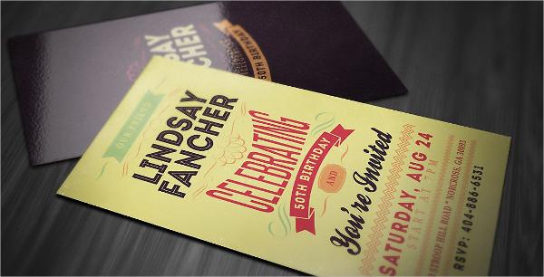 Creative and Unique Invitation Card Template