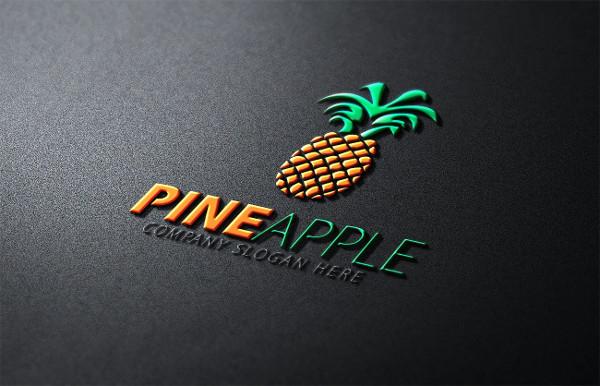 Fancy Pineapple Logo Template