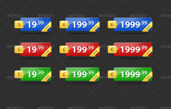 Fancy eCommerce Price Tags