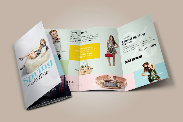Fashion Sale Tri-Fold Brochure Template