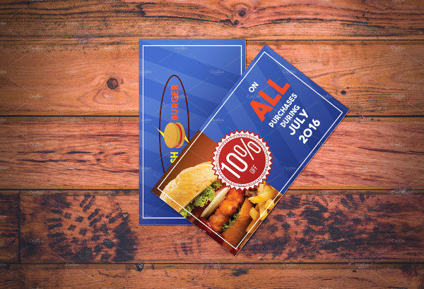 Fast Food Restaurant Coupon Template