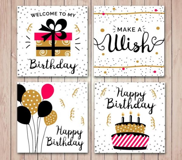 Free Online Birthday Card Set
