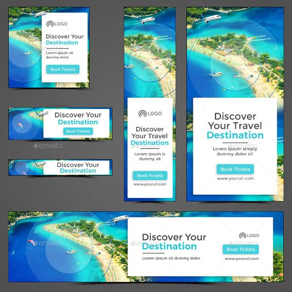Flat Design Travel Banner Templates