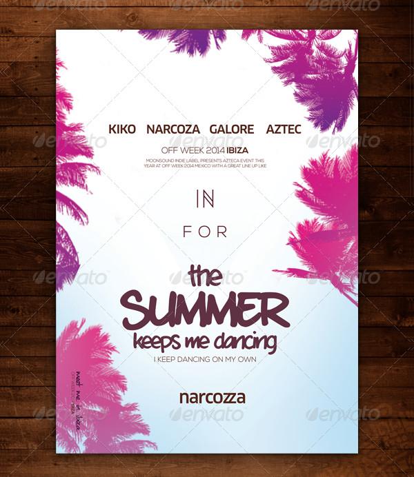 Popular Summer Poster Template