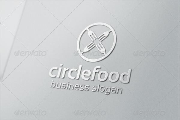 Food Circle Logo Template