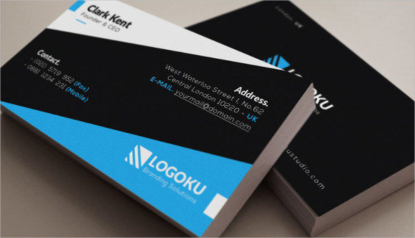 Vertical & Horizontal Corporate Business Card Template