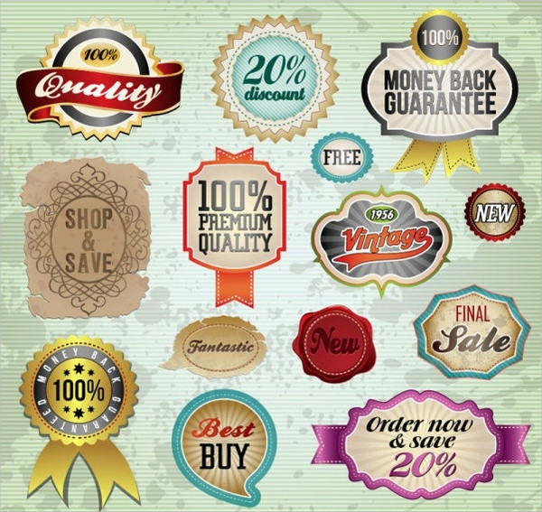 Free Download Classic Labels and Badges