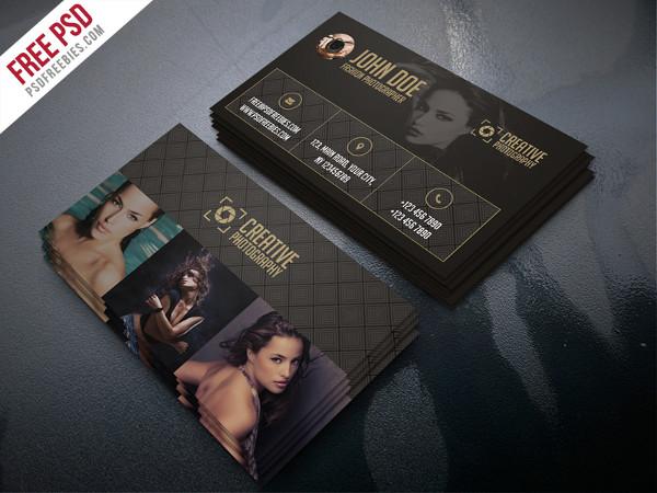 Fashion Photographer Business Card Template Free PSD