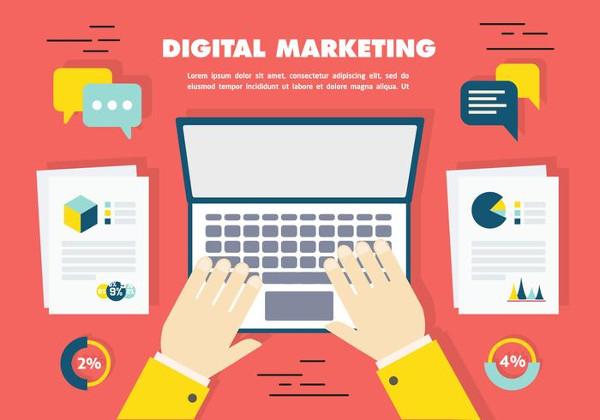 Free Flat Digital Marketing Icon Collection