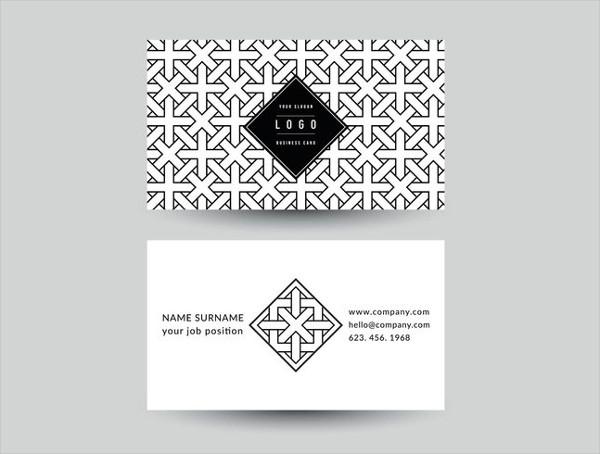Free Geometric Business Card Vector