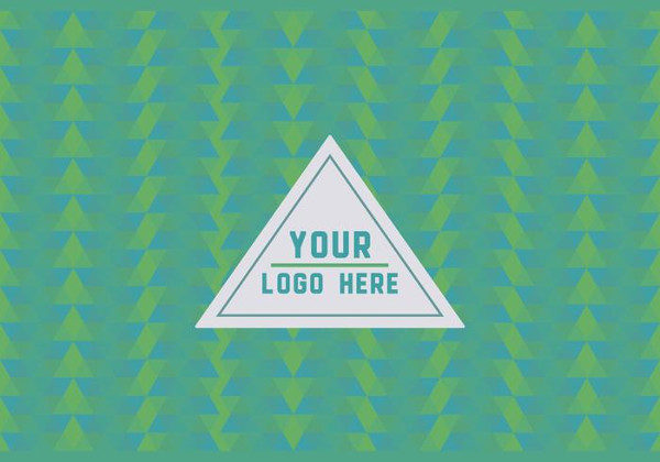Free Green Geometric Logo Background