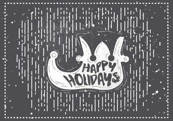 Free Hand Drawn Christmas Vector Greeting Cards