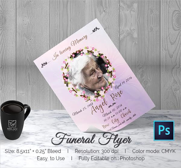 Free PSD Funeral Flyer Template