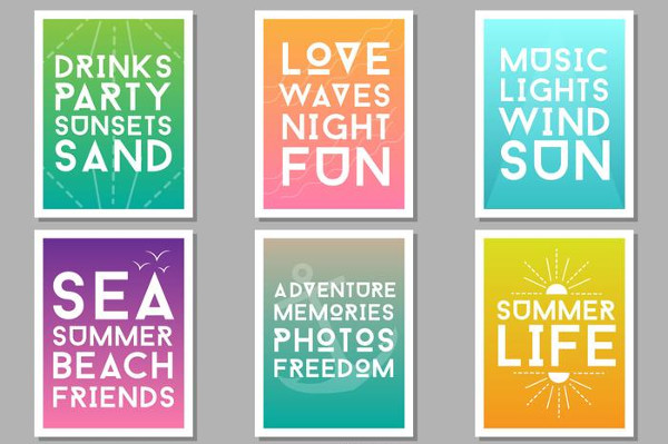 Free Retro Summer Party Posters