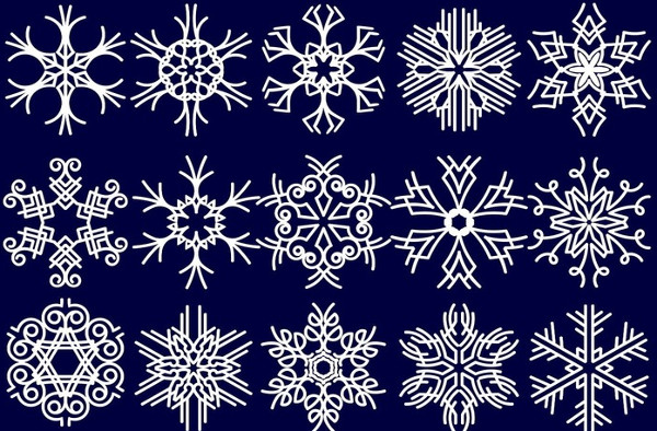 Free Snowflakes Pattern Collection Vector