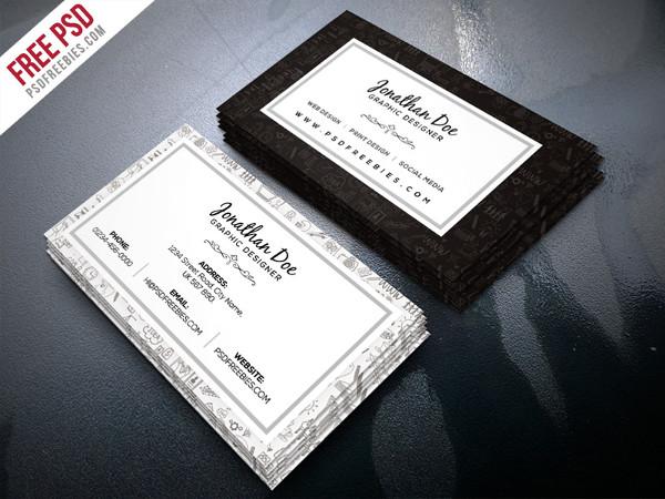 Free PSD Freelance Designer Business Card