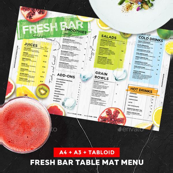 Fresh Juice Drinks Menu Template