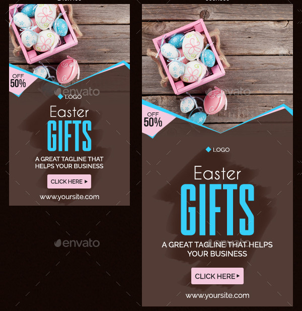 Fully Editable Easter Gifts Banners