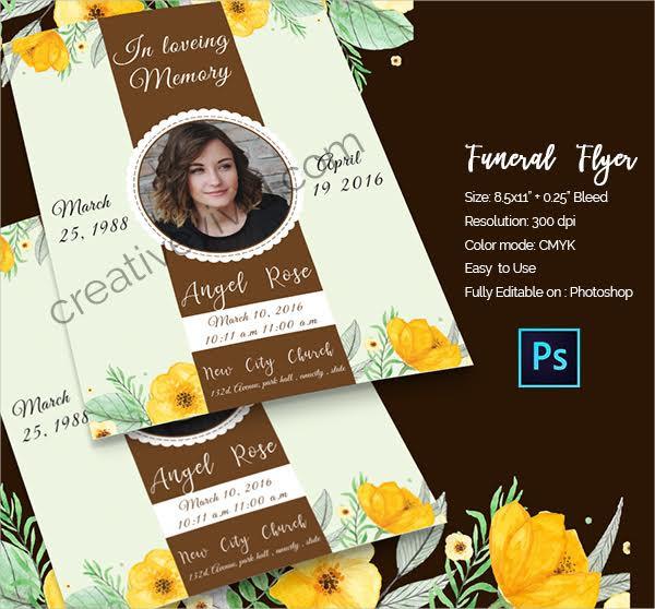 Funeral Free PSD Flyer Design