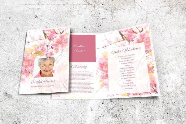 Funeral Program Template in MS Word