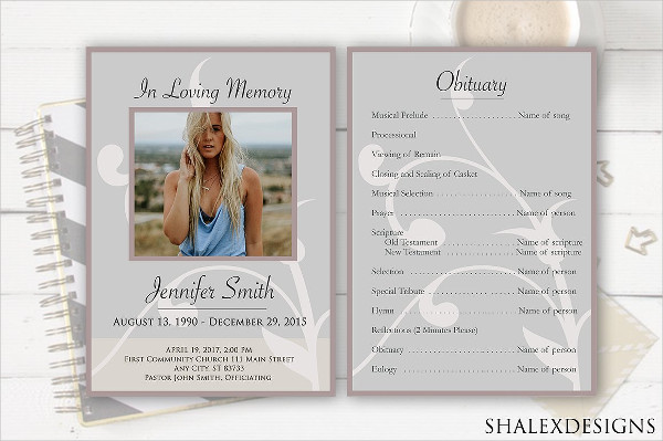 PSD Funeral Service Flyer Template